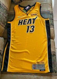 Miami Heat Trophy Gold Jersey Bam Adebayo Swingman #3128/6031 CN9934-720 Size S