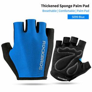 ROCKBROS Bicycle Half Finger Gloves Breathable Shockproof MTB Road Bike Gloves