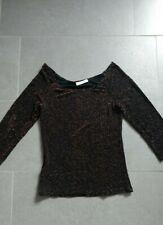 3b68f782499ce5 Shirt Top Oberteil Pullover Longsleeve 3/4 Arm, Promod glitzer Größe 36/38