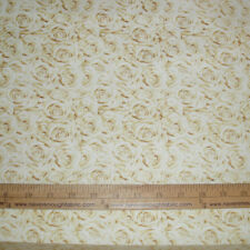 Cotton Fabric I do Wedding Roses in Creams Floral  BTY