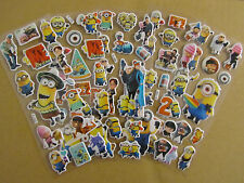 5 pieces Despicable Me Minions Fun Puffy 3D Cartoon Kids Boys Craft Stickers #5