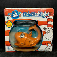 Dr. Seuss The Cat in The Hat Movie Fish Flashlight Orange Radio Shack 2003