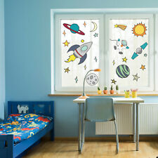 Hand drawn space window stickers | Space themed window stickers | Window decals