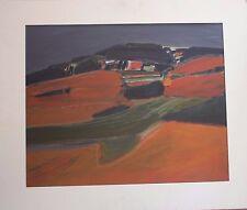 Stewart LEES - Peinture acrylic Street Henri HAYDEN 1978 Edinburgh Scotland **
