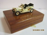 LESNEY MATCHBOX YESTERYEAR Wood Cigarette case,ROLLS-ROYCE SILVER GHOST - GOLD