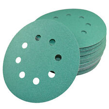 "5"" 8-Hole 100-Grit Sanding Discs for Porter-Cable 382 Random Orbit Sander 50x"
