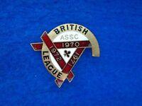 RARE 1970,71 & 72 BRITISH LEAGUE ASSC. SPEEDWAY ENAMEL LAPEL BADGE