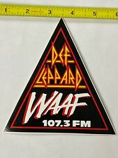 Def Leppard WAAF sticker promo Rare