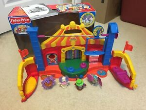 2005 Fisher Price Little People Amazing Animals Circus Playset Touch Sound 1-5