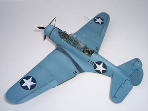 1/10 Echelle Américain Ww II Douglas Tbd Devastator Plans, Gabarit, Instruction