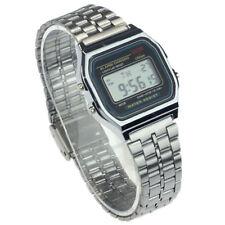 Digitale Orologio Donna Retro Unisex Uomo Vintage Sveglia - SILVER - Qualità ctf