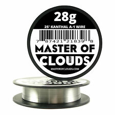 25 ft - 28 Gauge AWG A1 Kanthal Round Wire 0.32mm Resistance A-1 28g GA 25'