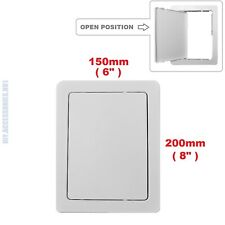 150 x 200 mm Access Panel Fit Hole White Plastic Inspection Hatch Door COTARBA™
