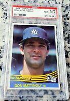 DON MATTINGLY 1984 Donruss Rookie Card RC PSA 8 New York Yankees Dodgers Marlins