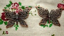 Butterfly charms 10 copper vintage style pendant charm jewellery supplies C947