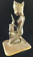Pita Maha Wood Sculpture Balinese Women Offering Fine Art Deco Mas Bali Statue