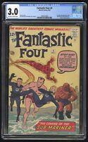 Fantastic Four #4 CGC 3.0 (Marvel 5/62) 1st Silver Age app of Sub-Mariner