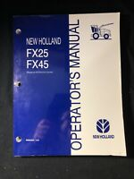 New Holland Fx25, Fx45 Operator's Manual *280-284