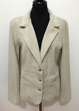 BYBLOS Giacca Donna Lino Cotone Cotton Flax Linen Woman Jacket Sz.M - 44