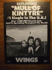 Paul McCartney & Wings Billboard ad for single Mull Of Kintyre The Beatles 1977