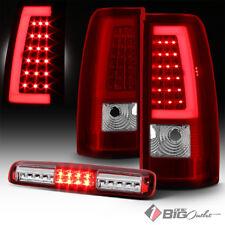 For 99-02 Silverado/Sierra R/C DRL-Light-Bar LED Tail Lights + LED 3rd Brake
