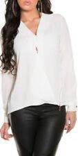 Maglie e camicie da donna bianchi in poliestere business