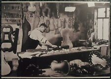 Carte postale Atelier lutherie Mirecourt luthier repro,stringe maker postcard