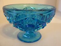 VINTAGE BLUE STAR DESIGN COMPOTE - MINT CONDITION