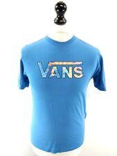 VANS Boys T-Shirt Top L Large Blue Cotton