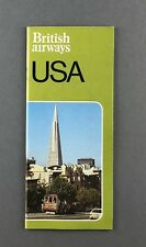 BRITISH AIRWAYS USA VINTAGE BROCHURE 1979 BA