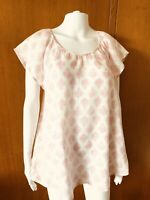 Sussan-Print Linen Tunic Top-Size 10