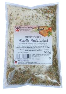 Räucherlauge  Forelle-Andalusisch 500g Räucherlake (Räucherhaken, Fischgewürz)