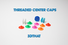 Fidget Spinner Threaded CAPS 608 Bearing DIY Choose Your Color! 3D Printed USA