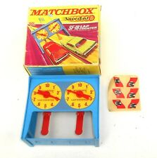 Vintage 1970's Matchbox Lesney Superfast ~ SF-18 LAP COUNTER SET ~ Boxed