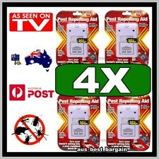 4 X New RIDDEX Plus Electronic Pest Rodent Repeller