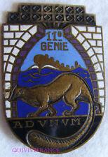 IN13400 - INSIGNE 11° Régiment du Génie, émail, dos lisse, Déposé