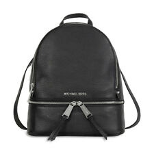 Michael Kors Rhea Leather Backpack - Black