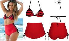 Unbranded Side Tie V Neck Plus Size Swimwear for Women