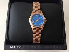 NEW MARC JACOBS MBM3204 HENRY DINKY ROSE GOLD STEEL MALI BLUE DIAL WOMEN'S WATCH