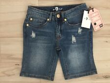 New 7 for all mankind denim shorts for girls size 8