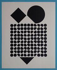 Victor VASARELY IV Offset Originale de 1973 Op Art Optique Cinétique 44ans