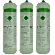 3 X Argon CO2 Disposable Welder Gas Bottle 60 L Litre For Gas Gasless Mig