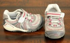 Stride Rite Srt Gray Sneakers 4 Toddler Boys Shoes Flex Sole Red Easy On