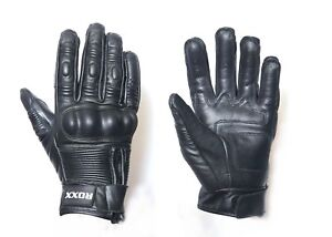Leather All Weather Motorbike Motorcycle Cycling Gloves Carbon Fiber Knuckle