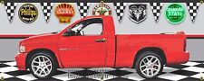 2004 DODGE RAM SRT-10 VIPER TRUCK RED GARAGE SCENE BANNER SIGN ART MURAL 2' X 5'