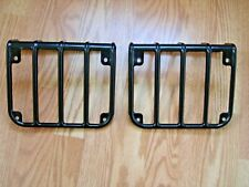 Jeep Wrangler 2007 18 Black Polished Tail Light Protection Guards New Other