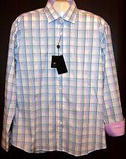 Bertigo White Striped Cotton Stylish Men's Dress Shirt Sz XL NEW $149