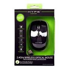 DGL Wireless Optical Mouse - 2.4GHz, USB Nano Receiver, 800 DPI, 6 Buttons, Ergo