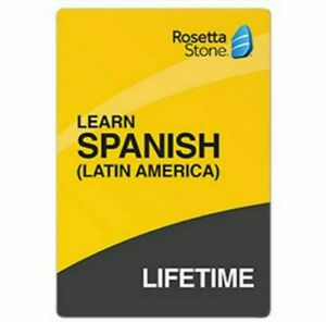 Rosetta Stone Lifetime Subscription ~ SPANISH - LATIN AMERICA W15