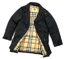 Auth Men's BURBERRY PRORSUM Nova Check Black Down Puffer Jacket Coat Size M/L
